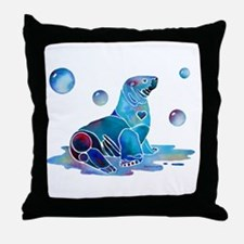 Salty Seal Throw Pillow