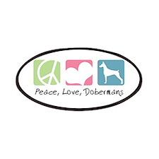 Peace, Love, Dobermans Patches