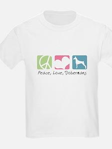 Peace, Love, Dobermans T-Shirt