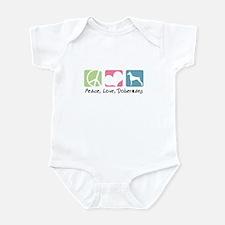Peace, Love, Dobermans Infant Bodysuit