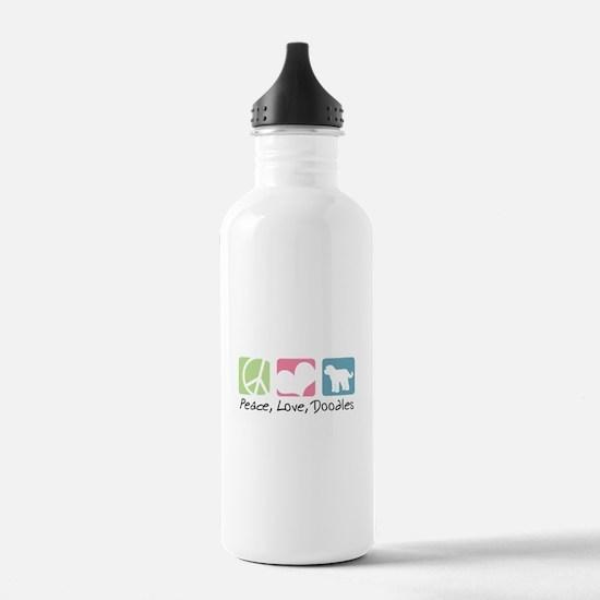 Peace, Love, Doodles Water Bottle