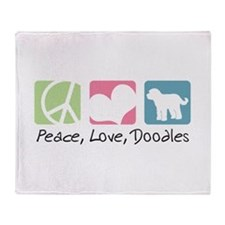 Peace, Love, Doodles Throw Blanket