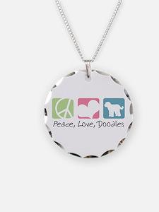 Peace, Love, Doodles Necklace