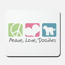 Peace, Love, Doodles Mousepad