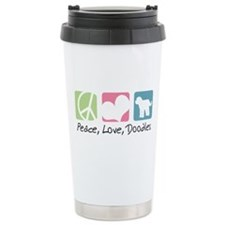 Peace, Love, Doodles Travel Mug