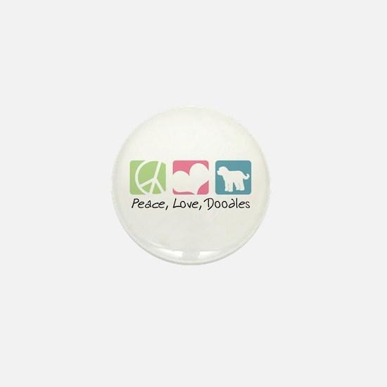 Peace, Love, Doodles Mini Button
