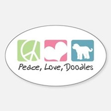 Peace, Love, Doodles Decal