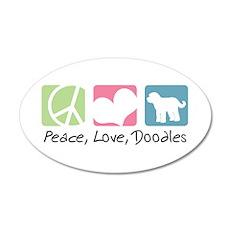 Peace, Love, Doodles 22x14 Oval Wall Peel