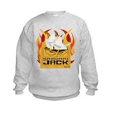 Samurai Jack Flames Kids Sweatshirt