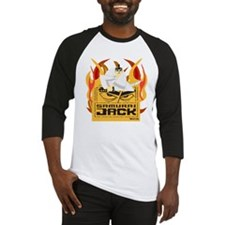 Samurai Jack Flames Baseball Jersey