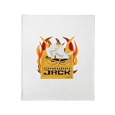 Samurai Jack Flames Throw Blanket