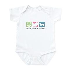 Peace, Love, Cavaliers Infant Bodysuit