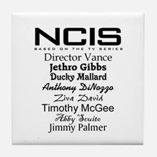NCIS Characters Tile Coaster
