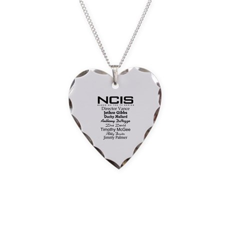 NCIS Characters Necklace Heart Charm