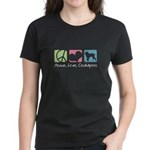 Peace, Love, Cockapoos Women's Dark T-Shirt