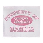 Property of Dahlia Throw Blanket
