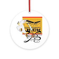 Samurai Jack Fights Aku Ornament (Round)