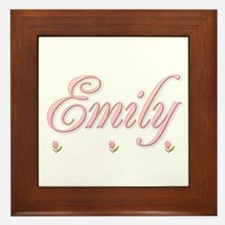 Emily and the rosebuds Framed Tile