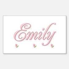 Emily and the rosebuds Rectangle Decal