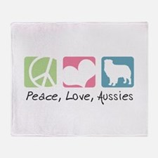 Peace, Love, Aussies Throw Blanket