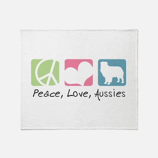 Peace, Love, Aussies Throw Blanket