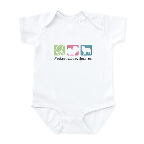 Peace, Love, Aussies Infant Bodysuit