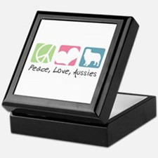 Peace, Love, Aussies Keepsake Box