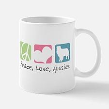 Peace, Love, Aussies Mug