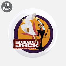 "Samurai Jack With Aku 3.5"" Button (10 pack)"