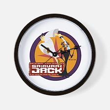 Samurai Jack With Aku Wall Clock