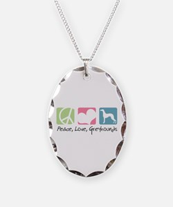 Peace, Love, Greyhounds Necklace