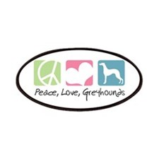 Peace, Love, Greyhounds Patches