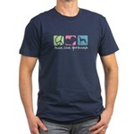 Peace, Love, Greyhounds Men's Fitted T-Shirt (dark