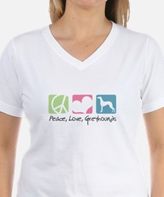 Peace, Love, Greyhounds Shirt