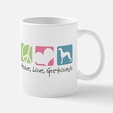 Peace, Love, Greyhounds Mug