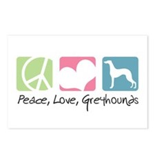 Peace, Love, Greyhounds Postcards (Package of 8)