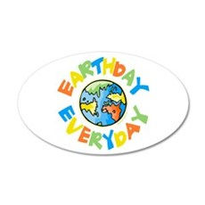 Earth Day 20x12 Oval Wall Decal
