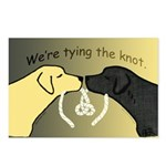 Dog Lovers Tying Knot Postcard Announcements (8)