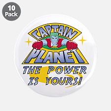 """Captain Planet Power 3.5"""" Button (10 pack)"""
