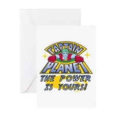 Captain Planet Power Greeting Card