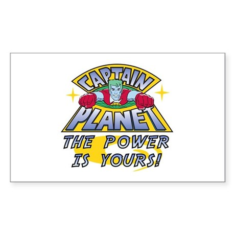Captain Planet Power Sticker (Rectangle)