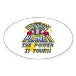 Captain Planet Power Sticker (Oval)