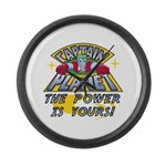 Captain Planet Power Large Wall Clock