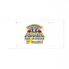 Captain Planet Power Aluminum License Plate