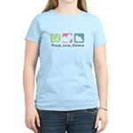 Peace, Love, Maltese Women's Light T-Shirt