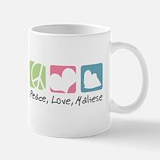 Peace, Love, Maltese Mug