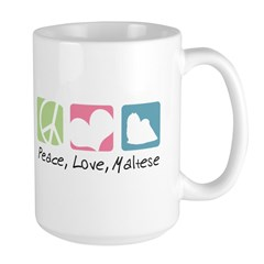 Peace, Love, Maltese Mug