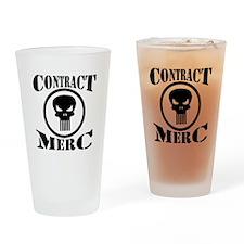 Contract Merc Skull Drinking Glass
