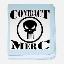 Contract Merc Skull baby blanket
