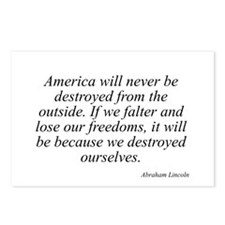 Abraham Lincoln quote 7 Postcards (Package of 8)